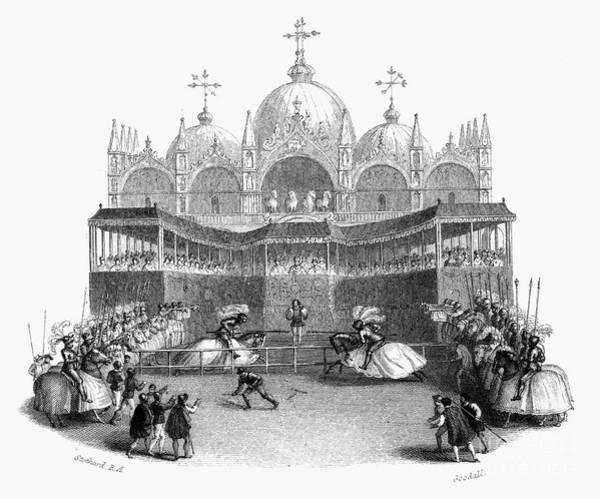 St Mark's Basilica Photograph - Venice: Tournament by Granger
