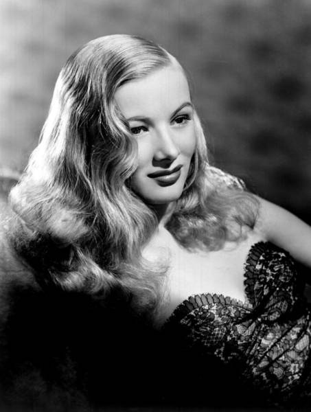 Veronica Photograph - Veronica Lake Portrait, Featuring by Everett