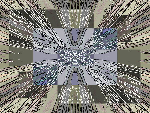 Diagonal Digital Art - Verve 2 by Tim Allen
