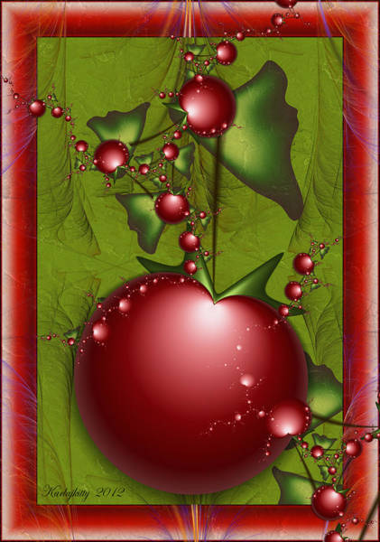 Digital Art - Very Cherry by Karla White