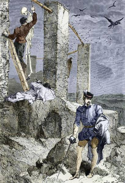 Grave Robbers Wall Art - Photograph - Vesalius Stealing A Skeleton, Artwork by Sheila Terry
