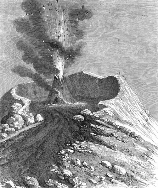 Photograph - Vesuvius, Italy by Granger
