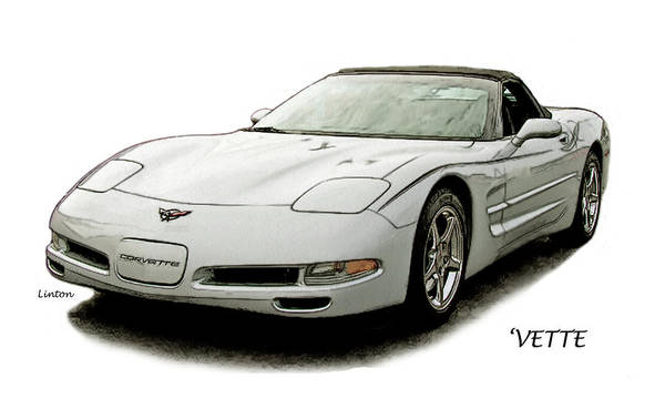 Digital Art - Vette 2 by Larry Linton