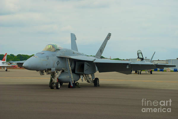 Photograph - Vf-31 Tomcatters On Tarmac  by Mark Dodd
