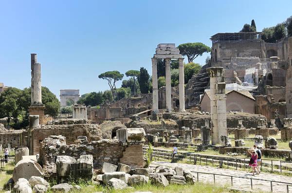 Wall Art - Photograph - Via Sacra. Roman Forum. Rome by Bernard Jaubert