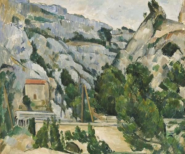 D.c Painting - Viaduct At L'estaque by Paul Cezanne