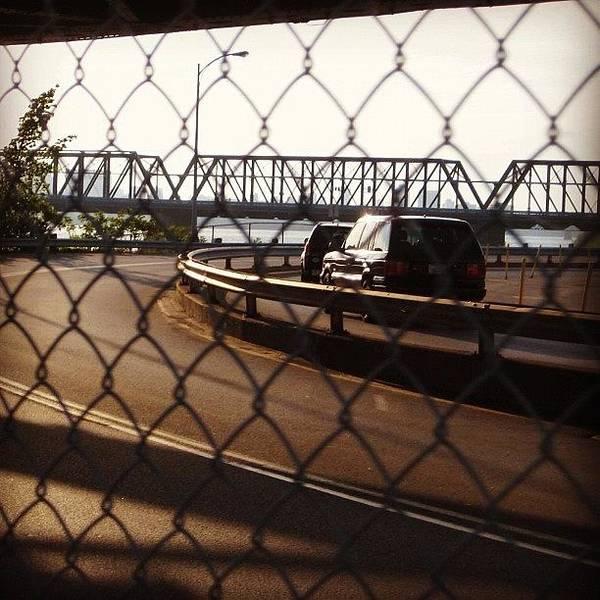 Victoria Bridge Bike Path #bridge Art Print