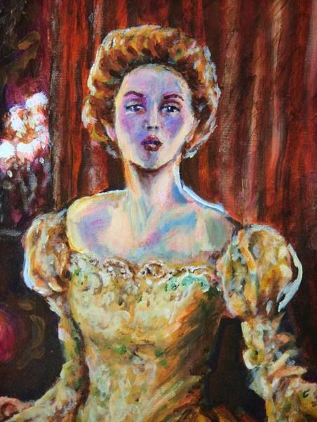 Wall Art - Painting - Victorian Elegance 1 Portrait by Laura Heggestad