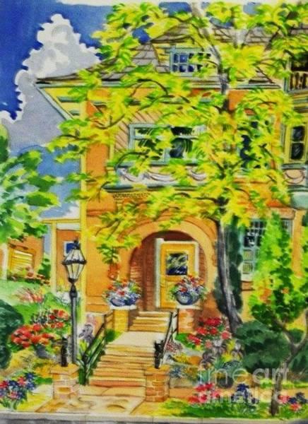 Victorian Sandstone Mansion Denver Colorado Art Print by Annie Gibbons