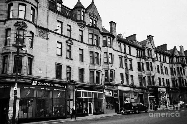 Tenement Photograph - Victorian Tenement Buildings At The End Of High Street Glasgow Scotland Uk by Joe Fox