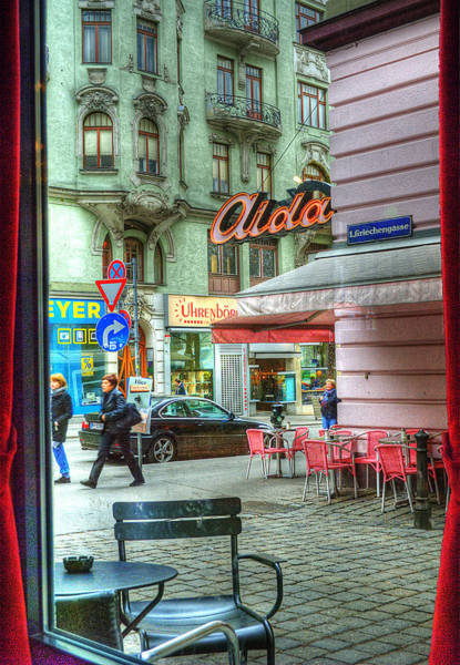 Stadt Photograph - Vienna View From Coffee Shop Window by Juli Scalzi
