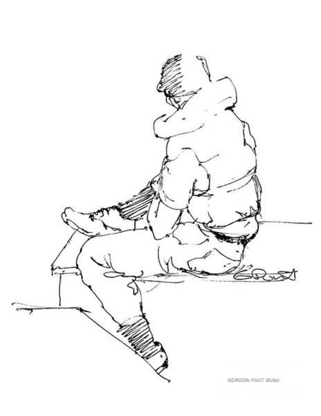 Drawing - Vietnam War Art-4 by Gordon Punt