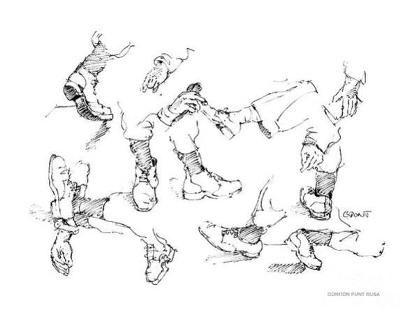 Drawing - Vietnam War Art-5 by Gordon Punt
