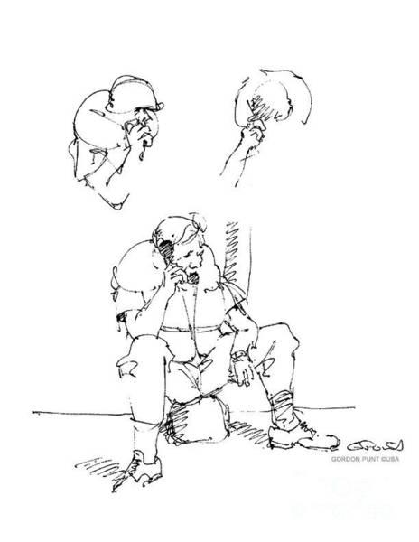 Drawing - Vietnam War Art-6 by Gordon Punt