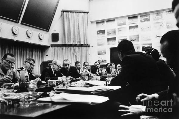 Van Johnson Photograph - Vietnam War: Conference by Granger