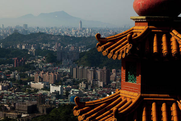 Wall Art - Photograph - View At Taipei City From Zhangshan Temple by Nikolay Titov