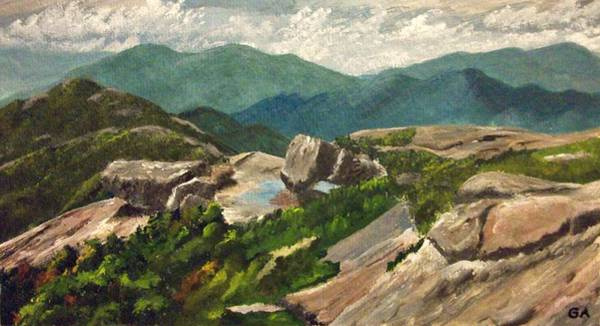 Adirondack Mountains Painting - View From Algonquin Peak by Gary Adams