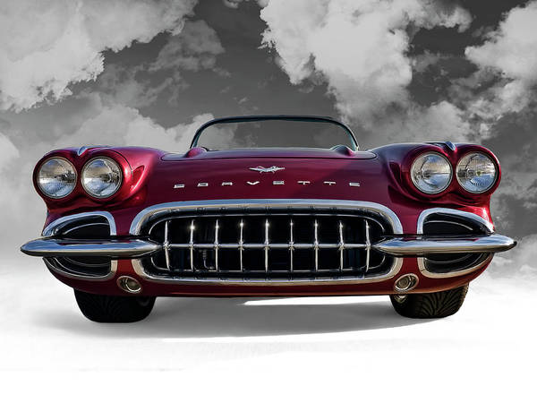 Corvette Wall Art - Digital Art - View From Cloud 9 by Douglas Pittman