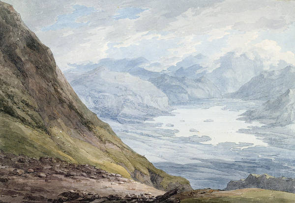 Lake District Painting - View From Skiddaw Over Derwentwater  by Thomas Hearne