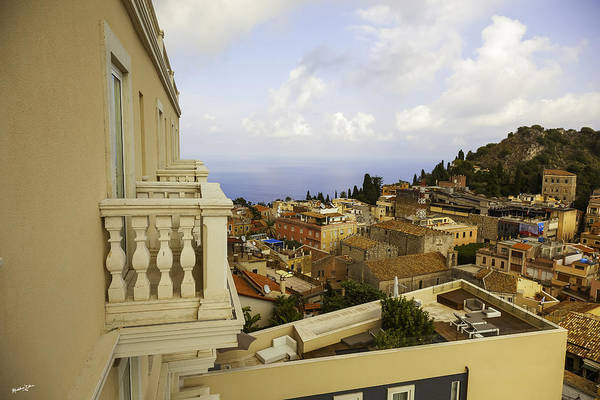 Wall Art - Photograph - View From The Terrace - Taormina - Sicily by Madeline Ellis