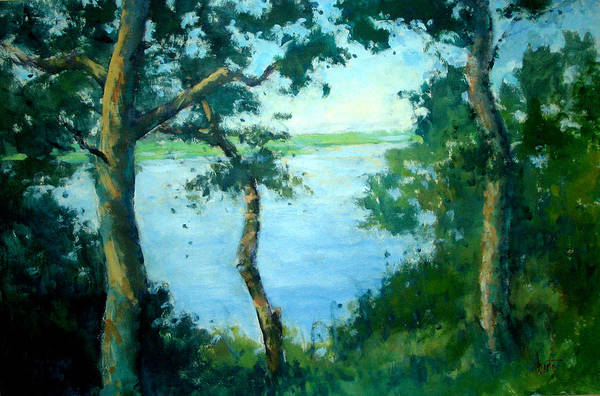 Wall Art - Painting - View From Turtle Mound by Berto Ortega