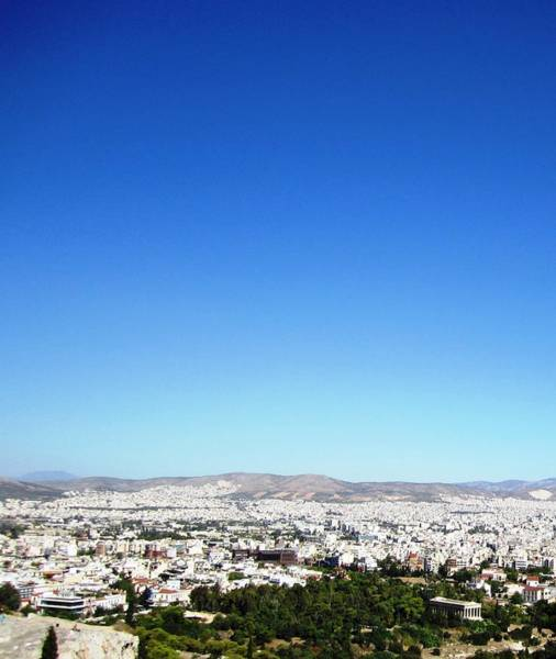 Photograph - View Of Athens From High Above On Acropolis Hilltop In Greece by John Shiron