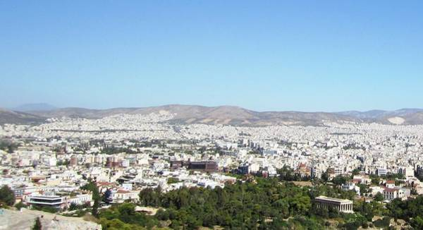 Photograph - View Of Athens II From High Above On Acropolis Hilltop In Athens Greece by John Shiron