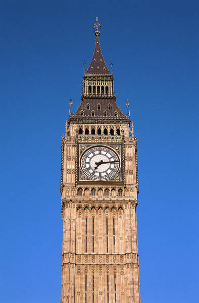 Vertical Landscape Photograph - View Of Big Ben At The British Capital by George Doyle
