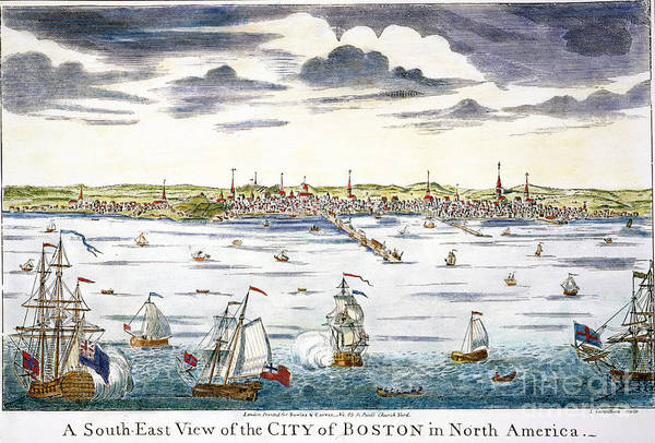 Photograph - View Of Boston, C1731-36 by Granger