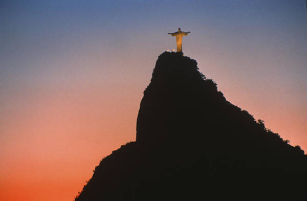 Rio De Janeiro Photograph - View Of Christ The Redeemer  by Anonymous