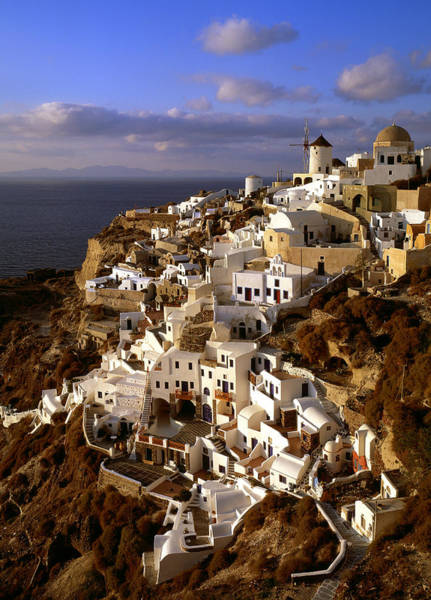Photograph - View Of City Of Oia On Santorini Island by Cliff Wassmann