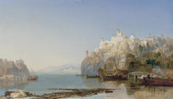 Istanbul Painting - View Of Constantinople On The Bosphorus by James Webb