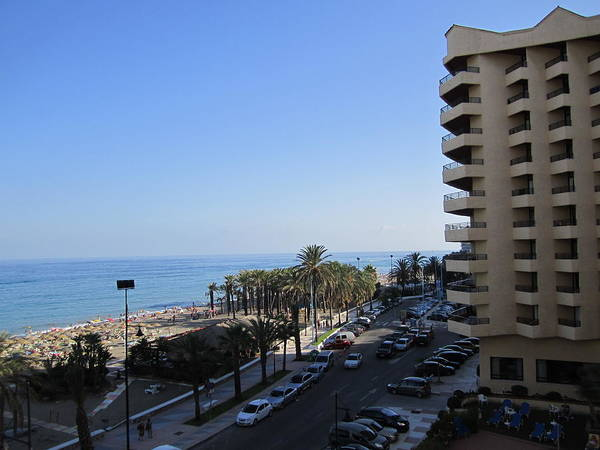 Photograph - View Of Costa Del Sol Beach Spain by John Shiron