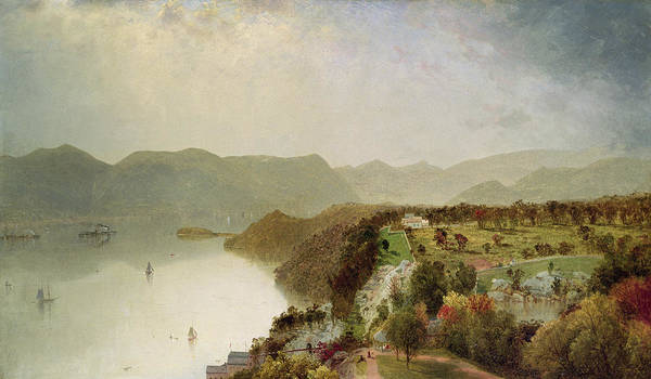 Inn Wall Art - Painting - View Of Cozzen's Hotel Near West Point Ny by John Frederick Kensett