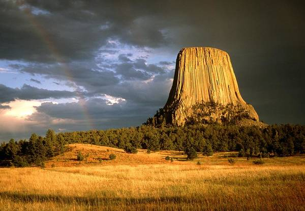 Wall Art - Photograph - View Of Devil's Tower, A Basalt Outcrop by Tony Craddock