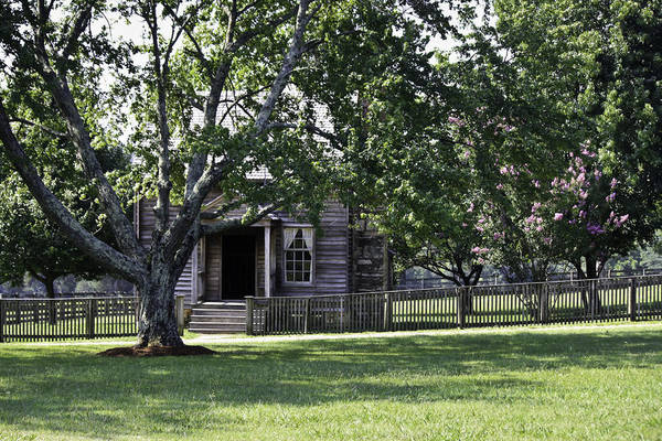 Between The Trees Photograph - View Of Jones Law Offices Appomattox Virginia by Teresa Mucha