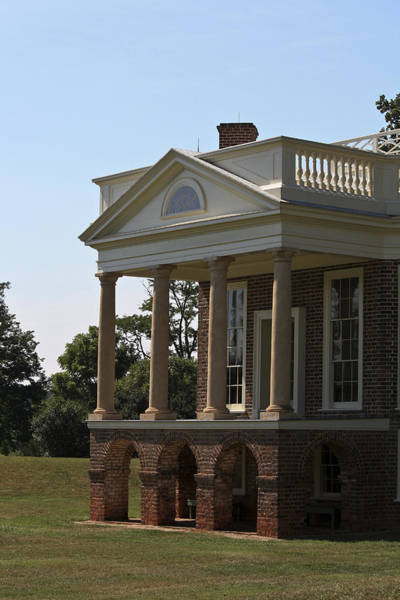 Wall Art - Photograph - View Of South Portico At Poplar Forest by Teresa Mucha