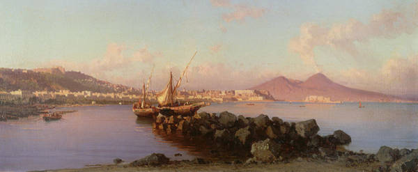 Wall Art - Painting - View Of The Bay Of Naples by Alessandro la Volpe