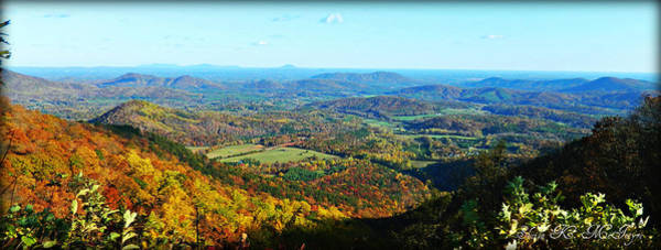 Photograph - View Of The Beautiful Blue Ridge Mountains During Autumn by Sheila Kay McIntyre