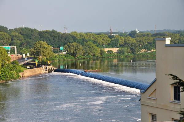 Philadelphia Phillies Digital Art - View Of The Fairmount Dam  by Bill Cannon