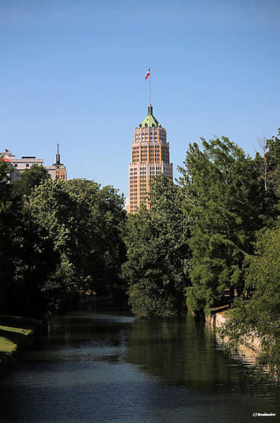 Photograph - View Of The Tower Life Building And San Antonio River In Color by Sarah Broadmeadow-Thomas