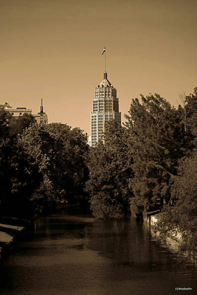 Photograph - View Of The Tower Life Building And San Antonio River by Sarah Broadmeadow-Thomas