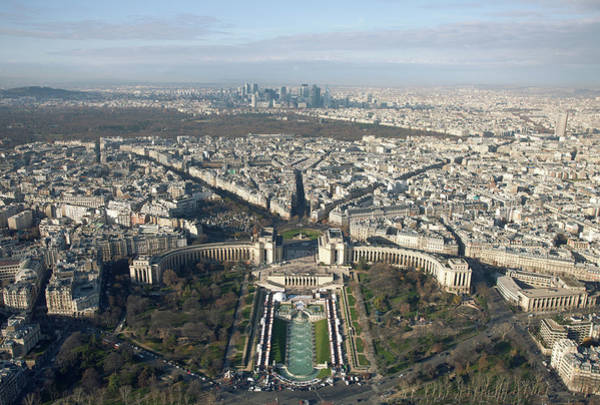 Pasquale Photograph - View Over Trocadero From Eiffel Tower. Paris by Nico De Pasquale Photography