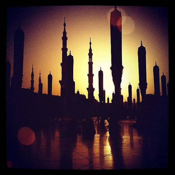 Wall Art - Photograph - #view #sun #sunset #mosque #islam by Najla Abdullah