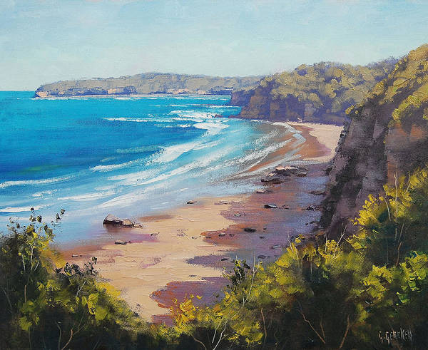 Surf Painting - View To Norah Head by Graham Gercken