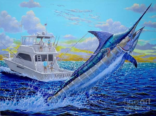 Big Island Painting - Viking Marlin by Carey Chen