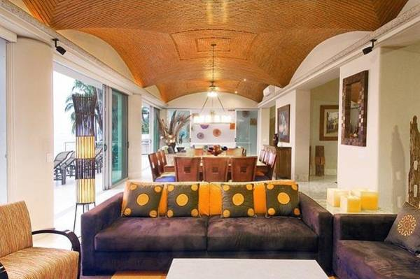 Barbeque Digital Art - Villa Azul Pacifico Living Room by Unique Consignment