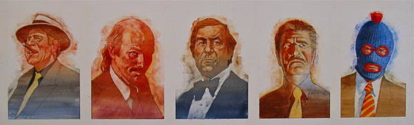 Painting - Villains  by Cliff Spohn