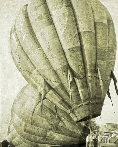Wall Art - Digital Art - Vintage Ballooning IIi by Betsy Knapp