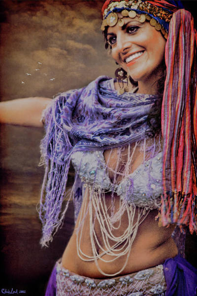 Belly Dancers Photograph - Vintage Belly Dancer by Chris Lord